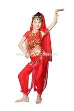 Latest Kids Dance Costumes,Lovely Festive Popular Indian Children Belly dancer Wear,Belly Dancing Performance Wear (ET008)