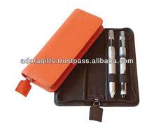 ADALPC - 0035 2013 high quality pen case leather / pocket pouch pen / leather pen cases