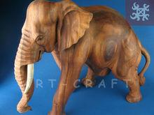 hand carved wood elefant
