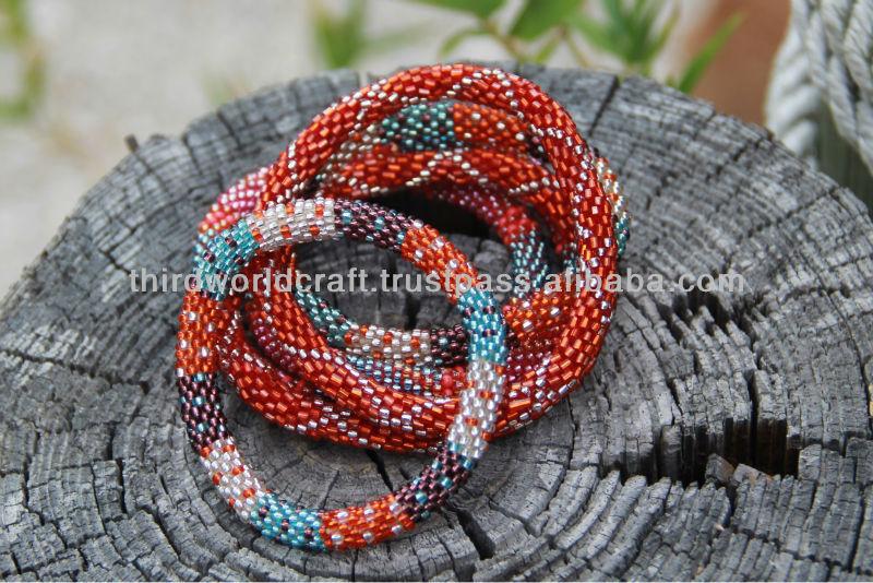 Rollover Glass Bead Bracelets