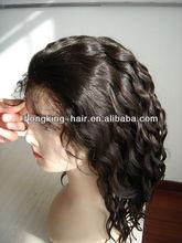 100% human hair deep wave virgin glueless full lace wig
