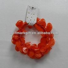 HOT SALE ! 9 feet Orange Pumpkin Halloween Decorative Wired Tinsel Garland, Halloween Tinsel,Halloween Decoration Items