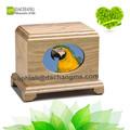 Urna de la cremación de ir a casa del animal doméstico/animal urnas funerarias de madera