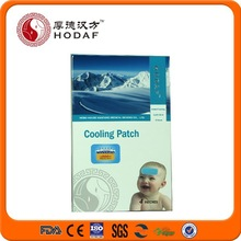 China supplier cold fever treatment factory disposable hydrogel fever cooling patch