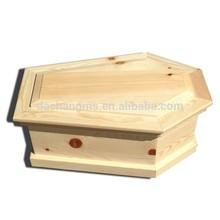 "Small Newborn / Pet ""Pine-Box"" Coffin / Casket"