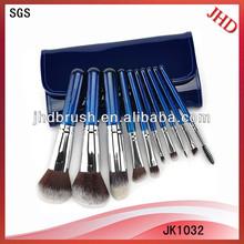 10pcs synthetic hair cosmetic brush kit
