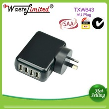 New Multi Ports USB AC Adapter Wall Charger+AU Plug
