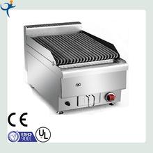 restaurant stainless steel desktop gas lava stone grill