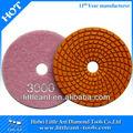 """4 """" de grano 3000 ángulo de piezas de repuesto de diamante tampón para pulir flexibles para el granito y el mármol"""