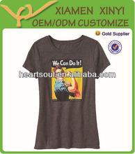Reasonable Price Factory Custom Women Cotton Tshirts with Heat Transfer Printing