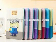 Hot For iPad Mini minion Case, smart cover for iPad mini