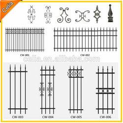 Decorative non rust aluminum garden fencing panel, protector garden fence