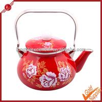 Antique fork custom enamel tea kettle enamel teapot water pot cool tea kettle customized kettle