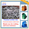 TiC rods used for making Hammer crusher Wear Parts titanium carbide cermet rods