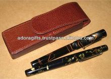 Leather Pen Case / High Quality Pen Case Leather/ Pocket Pouch Pen