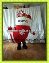 Hot sale good quality plush sock mascot christmas mascot costume