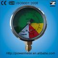 ( ytn- 60) 60mm líquido manómetro/de acero inoxidable de medidor de agua