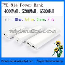 Hot battery charger 4000mAh 5200mAh 6000mAh for digital products