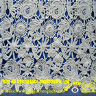 2014 New China Manufacturer Chemical Milky yarn Embroidered WATER SOLUBLE African Guipure Lace Tulle Fabric For Ladies