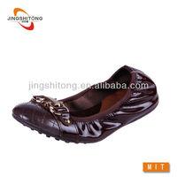 Copper Leather dancing shoe for women non-slip soles