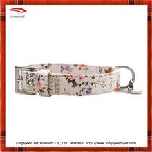 Fashion Printed Flower Hemp Dog Collar
