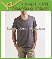 Loose Style Men Thin Collar Blank 100 Cotton T Shirts