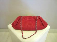 Wholesale Genuine Python Snakeskin Leather Handbag Clutch Bag for Women Red