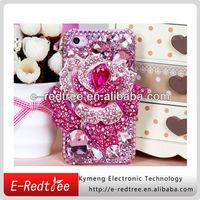 handmade diamond phone back cover for iphone 4 4s 5 5s
