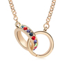 11113 semi-precious stone vietnam jewelry long gold beads necklace designs