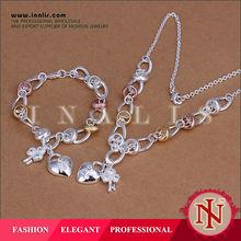 2014 brass fashion jewelry necklace set wholesale S010