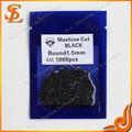 Wuzhou synthétiques prix usine de qualité aaa noir 1.5mm machine à couper la pierre cz