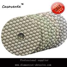 Hexagon diamond dry polishing pad for granite,marble