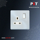 BS 13A 1 Gang Switched Socket Outlet ,Single Pole