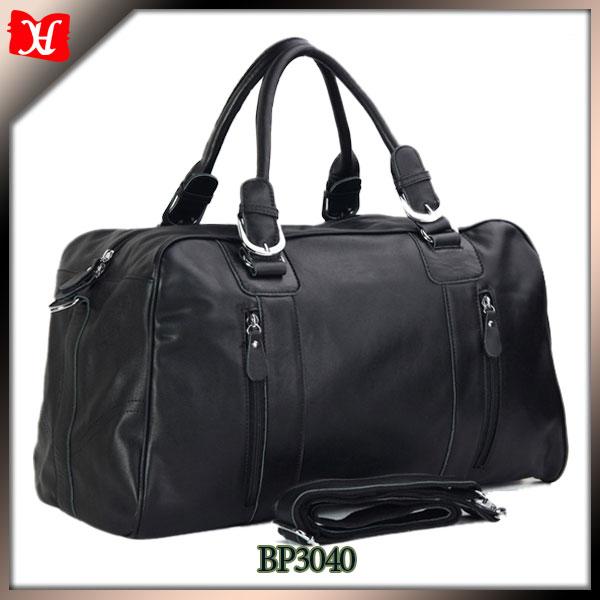 Wholesale promotional travel bag men leather travel bag