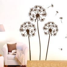 Removable Wall Decals Dandelion Design 70x50cm