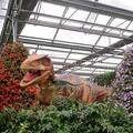 Statues de jardin pour la vie - taille Dinosaur aire de jeux couverte d'affichage