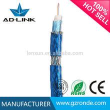 305 M / carretéis de madeira 75 ohm rg59 cabo de alimentação cabo coaxial