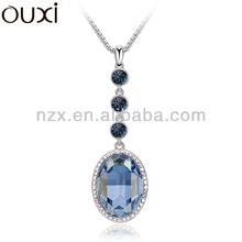 OUXI fashion long sweater chain statement necklace &ouxi jewelry made with Swarovski element jewerly 10836