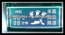 negative blue backlight foot massager lcd display