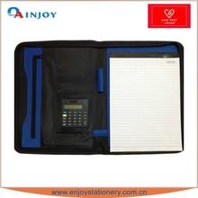 leather portfolio with calculator