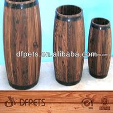Tall Timber Pot Vase Wooden Umbrella Stand Planter Flower Display DFG1004