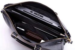 2015 Men's Crocodile Pattern Cowhide Leather Laptop Bag Wholesale