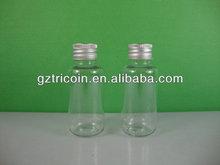 50ml Boston round bottle clear plastic