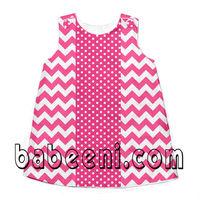 Pink chevron a line dresses