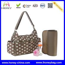 New Arrival Multifunction Mom Coffee Shoulder polka dot baby diaper bag