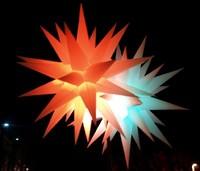 LED inflatable stars,LED light inflatable stars,color changing LED inflatable stars