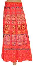 Vintage coton magique Wrap longues jupes robe femmes indiennes