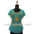 Crochet top long/chemisier./tricotchandail