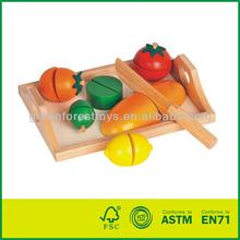 Wooden Cutting Toy Fruit Set