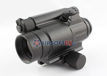 Airsoft Aimpoint Comp M4 Style 1x30 30mm Tactical Red Dot Sight Scope with KAC Style Quick Detach Mount, HD-6 M4